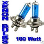 H4 Halogen Headlight Bulbs - 100W/90W Blue-White Plasma Xenon HID Effect (Pair)